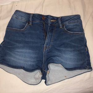 Pacsun super high rise short jean shorts